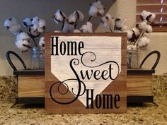 Home Sweet Home Wood Sign Entryway Sign Baseball Softball Decor Baseball Mom Baseball Sign Team Mom Baseball Softball Gift Sports by BaseballGiftsbyKaty on Etsy Baseball Signs, Baseball Mom, Sports Signs, Baseball Scoreboard, Baseball Season, Wood Signs Sayings, Sign Quotes, Softball Decorations, Softball Gifts
