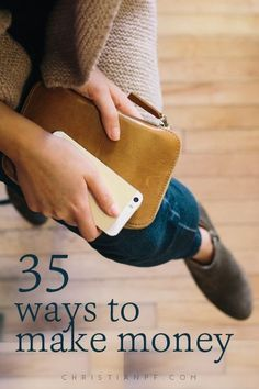 35 ways to make some extra money on the side - http://christianpf.com/ways-to-make-money/ make extra money at home, make extra money in college