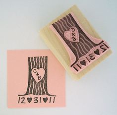 must get this NOW! Personalized Tree Stamp $13 Etsy