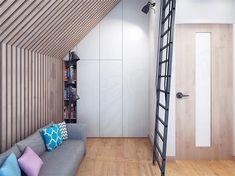 Projekt domu Malutki dr-S 79,48 m2 - koszt budowy 199 tys. zł - EXTRADOM Modern Barn House, Modern Houses, Steel Frame House, Loft, Architect House, Small House Design, House In The Woods, Contemporary Design, Beach House