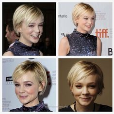 Short haircuts are the best choice for dealing with fine hair. Not only do they prevent your hair from appearing limp, but it also gives you a smart and funky look. Many celebrities have proven… Girls Short Haircuts, Bob Hairstyles For Fine Hair, Spiky Hairstyles, Pixie Haircuts, Vintage Hairstyles, Carey Mulligan Hair, Corte Y Color, Short Hair Cuts For Women, Pixies