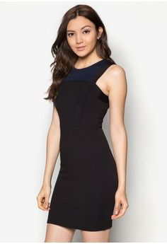 Cut In Panel Fitted Dress