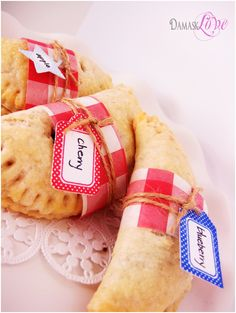 """""""Handpies"""" - pastry and filling.... and so prettily packaged. Perfect picnic food."""