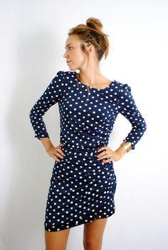 polka dots *and I love a longs sleeve mini $73