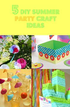 — 5 DIY Summer Party Craft Ideas