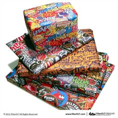 Urban Graphic Wrapping Paper by Filter 017 - http://www.filter017.com