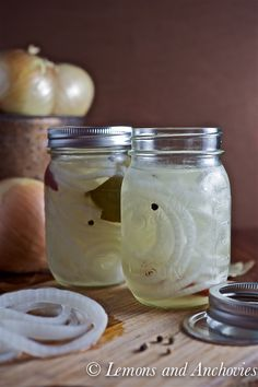 Pickled Onions Recipe | Lemons and Anchovies - use raw apple cider vinegar and stevia if you must sweeten