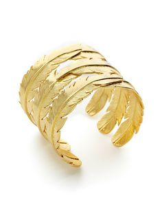 CC Skye Jewelry Feather Cuff Bracelet $195