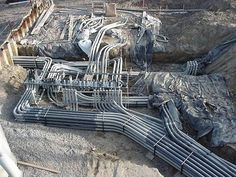 Electrical Contractor Installs Conduit & Wiring in Toronto Heavy duty large industrial machine and large diameter conduit installation . Electrical Panel Wiring, Electrical Diagram, Electrical Projects, Electrical Installation, Electrical Engineering, Civil Engineering, Electrician Work, Solar Panel Battery, Video Game Rooms