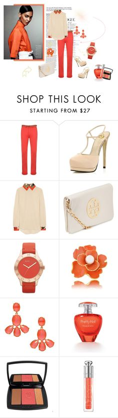 """""""~~~~~{}*"""" by sharkovska ❤ liked on Polyvore featuring Scotch & Soda, River Island, Preen, Tory Burch, Marc by Marc Jacobs, Kenneth Jay Lane, Kate Spade, Elizabeth Arden, Lancôme and Christian Dior"""