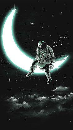 Music Man In The Moon Cross-Stitch Pattern Graffiti Wallpaper, Wallpaper Space, Dark Wallpaper, Galaxy Wallpaper, Wallpaper Backgrounds, Screen Wallpaper, Wallpaper Quotes, Space Drawings, Space Artwork