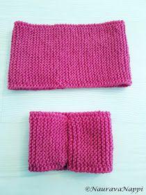 NauravaNappi: Neulottu rusettipanta + ohje Knitting, Tricot, Breien, Knitting And Crocheting, Crochet, Cable Knitting, Stitches, Weaving, Tejidos