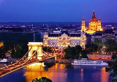 Budapest, Hungary--The Chain Bridge over the Danube River! Cruise Europe, Cruise Vacation, Dream Vacations, Vacation Spots, Places Around The World, Oh The Places You'll Go, Places To Travel, Places To Visit, Around The Worlds