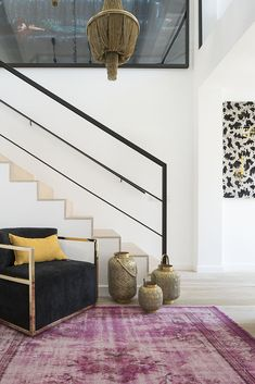 staircase with integrated light designed by Christine Leja