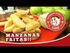 Manzanas Fritas (Receta Fácil) -  ***CANTIDADES***  - Manzanas Verdes (Granny Smith Apples) - Almidón de Maíz (Corn Starch) - Azúcar y Canela al gusto para sazonar las manzanas - Aceite vegetal o de maíz  **Dip Cremoso - 1 Taza - Chispas de Chocolate Blanco - 1/4 Taza - Leche Fresca  - 8oz - Queso Crema