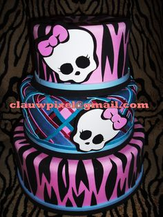 Monster High Cake. Festa Monster High, Monster High Cakes, Monster High Birthday, Monster High Party, Sweet Cakes, Cute Cakes, Monster High Decorations, Beautiful Cakes, Amazing Cakes