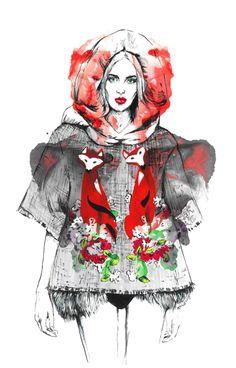 Diana-Kuksa-Dolce-and-Gabbana-fashion illustration