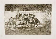 Goya en El Prado: El esforzado Rendon picando un toro, de cuya suerte murió en la plaza de Madrid