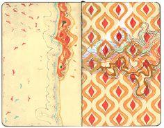 hollis brown thornton - gesso, permanent marker on paper #sketching #patterns