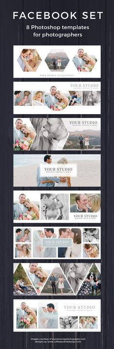 Facebook Timeline Cover Templates for Photoshop Template Set