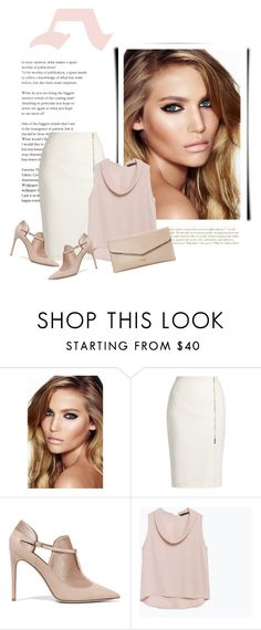 """Untitled #1513"" by unagii ❤ liked on Polyvore featuring Charlotte Tilbury, MaxMara, Valentino, Zara and Dune"