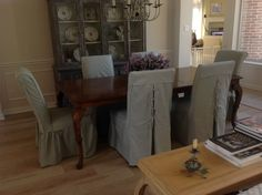 Dining room slipcovers