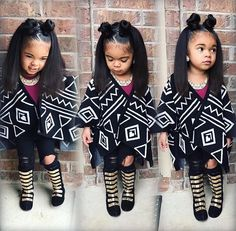 Team too much!I love this look Cute Kids Fashion, Little Girl Fashion, Black Kids Fashion, Swag Style, Beautiful Children, Beautiful Babies, The Maxx, Afro, Baby Girl Hairstyles