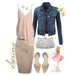 """""""#dressitjessistyle """"spring"""""""" by jesswyatt ❤ liked on Polyvore featuring beauty, LE3NO, Sans Souci, Nly Shoes and Cara"""