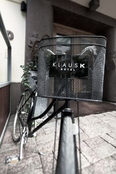 Klaus K - a Tablet Hotel with complimentary bikes Cheap Handbags, Handbags Online, Wholesale Handbags, Hotel Branding, Logo Branding, Logos, Brand Identity Design, Branding Design, Branding Ideas