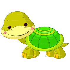 CLIPART BABY TURTLE | Royalty free vector design