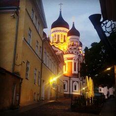 Orthodox catedral Aleksandr Nevsky, old town of Tallinn