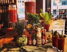 Go to a DIY Bloody Mary bar.