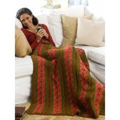 Bargello Throw free crochet afghan blanket pattern on yarnspirations