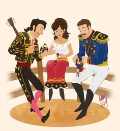 Manolo, Maria and Joaquin - The book of life fanart by joannekwan