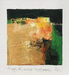 Sep. 15, 2014 abstract oil painting by Hiroshi Matsumoto