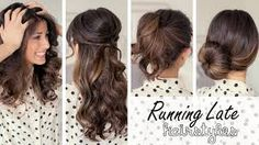 Running late? here you have 3 quick and beautiful hairstyles