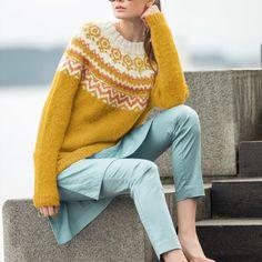 DSA55-09 Anja genser | Du Store Alpakka Knitting Sweaters, Knitwear, Jumper, Autumn, Pullover, Crochet, Fashion, Moda, Knit Sweaters