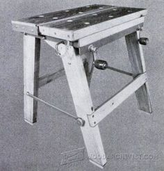 Simple Workbench Plans - Workshop Solutions Projects, Tips and Tricks | WoodArchivist.com