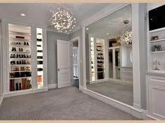 trendy Ideas for luxury closet room chandeliers Walk In Closet Design, Bedroom Closet Design, Closet Designs, Dressing Room Closet, Dressing Room Design, Dressing Rooms, Dream Home Design, Home Interior Design, House Design
