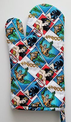 Your place to buy and sell all things handmade Marvel Gifts, Aqua, Dc Comics Heroes, Batman, Kitchen Oven, Wonder Woman, Chef, Geek Chic, Hot Pads