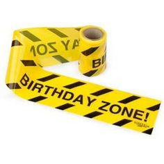 Check out Warning Tape Streamers - Decorations & Party Supplies from Birthday In A Box