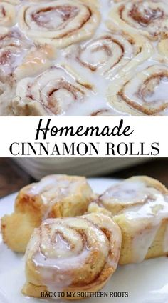 Homemade Cinnamon Rolls with Buttermilk and a powdered sugar icing are a cinch to make and a treat to eat. Chances are, you already have all of the ingredients in the house. These are the best cinnamon rolls that don't require yeast and are budget-friendly. #dessert #cinnamonrolls Kinds Of Desserts, No Cook Desserts, Homemade Desserts, Delicious Desserts, Sugar Icing, Powdered Sugar, Top Dessert Recipe, Dessert Recipes, Breakfast Bake