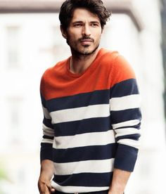 Andres Velencoso Segura Dons Relaxed Styles for H Fall 2012