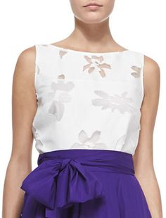 Escada Sleeveless Silk Floral Burnout Shell on shopstyle.com