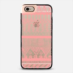 Boho Coral Aztec Transparent iPhone 6 Metaluxe Case by Organic Saturation | Casetify Get $10 off using code: 53ZPEA