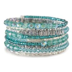Memory Wire Bracelet Kit by FusionBeads.com® - Ice | Fusion Beads