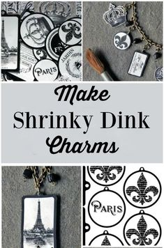 I had no idea that you could make such pretty charms, and jewelry, from Shrinky Dinks! [Good printables]