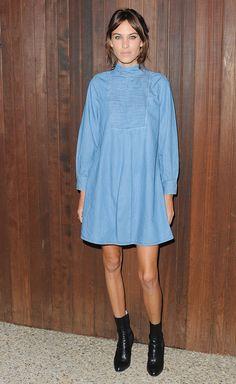 Alexa Chung Wears the Best Denim Dress Ever :: Company.co.uk