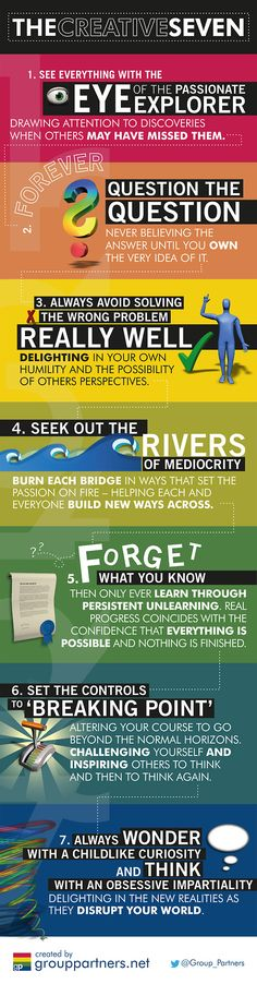 Infographic: The Creative Seven #infographic #innovation #ideas #creative