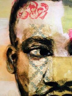 Multi color Contemplative Martin Luther King Jr by MelindaJonesArt
